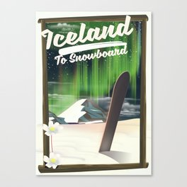 Iceland to Snowboard Canvas Print