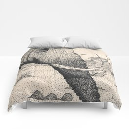 Family - Elephant Mourning Comforters