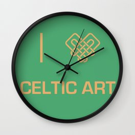 I heart Celtic Art Wall Clock