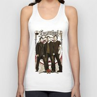 crowley Tank Tops featuring Supernatural Sam, Dean Winchester Castiel, Bobby and Crowley  by Ryan Huddle House of H