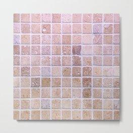 Travertine Squares Metal Print