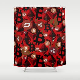 Сrypto currencies money pattern Shower Curtain