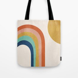 The Sun and a Rainbow Tote Bag