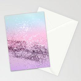 Mermaid Girls Glitter #2 #shiny #pastel #decor #art #society6 Stationery Cards