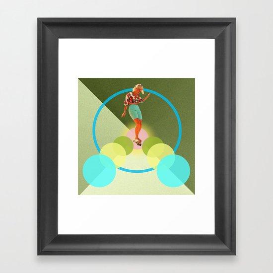 Skate for peace Framed Art Print