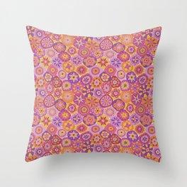 Millefiori-Fiesta Colors Throw Pillow