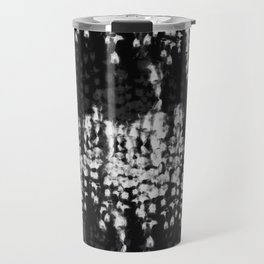 black shibori tie dye Travel Mug