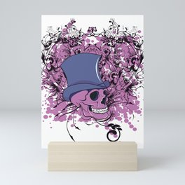 Skull Top Hat Mini Art Print