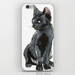 Mon ptit chat noir iPhone Skin