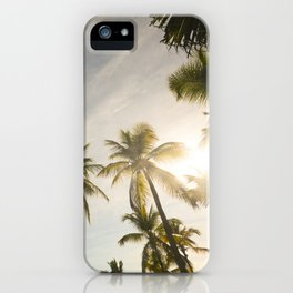Palm Trees. iPhone Case