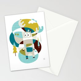 Moose on the loose Stationery Cards