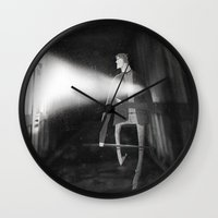 silent hill Wall Clocks featuring James Sunderland from Silent Hill 2 by Peerro