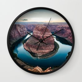 Sunset at the Horseshoe Bend Wall Clock