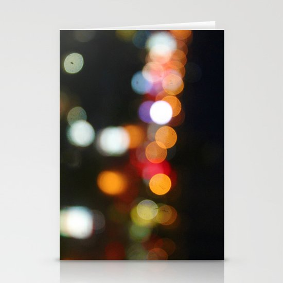 City Bokeh Stationery Cards