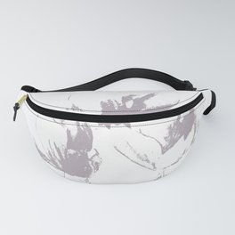 White-brown floral print Fanny Pack