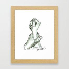 holding hand Framed Art Print