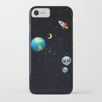 emoji iPhone & iPod Cases featuring Space Emoji by jajoão