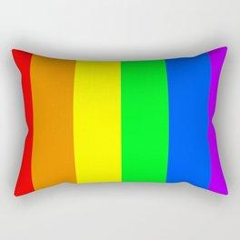 Rainbow Pride flag (vertical format) Rectangular Pillow