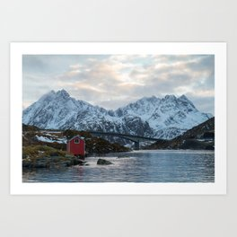Lofoten winter Art Print