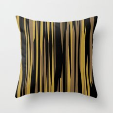Yellow tan and black abstract Throw Pillow