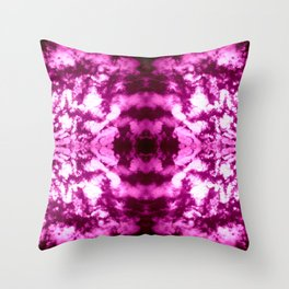 Violet Vibration Throw Pillow