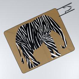 Zebra Elephant Safari Picnic Blanket