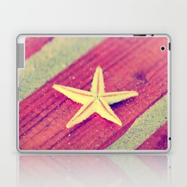 Stars and Stripes on the beach Laptop & iPad Skin
