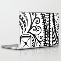 zentangle Laptop & iPad Skins featuring Zentangle by Wealie