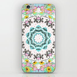 eclectic summer prints iPhone Skin