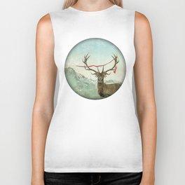 hold deer, tsunami Biker Tank
