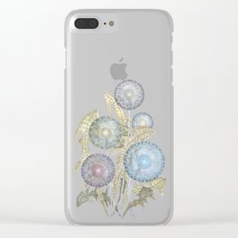 Dandelions watercolor painting Clear iPhone Case