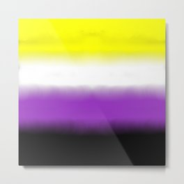 Nonbinary Flag Metal Print