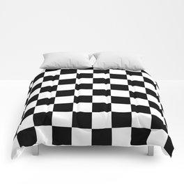 Checkered Pattern: Black & White Comforters
