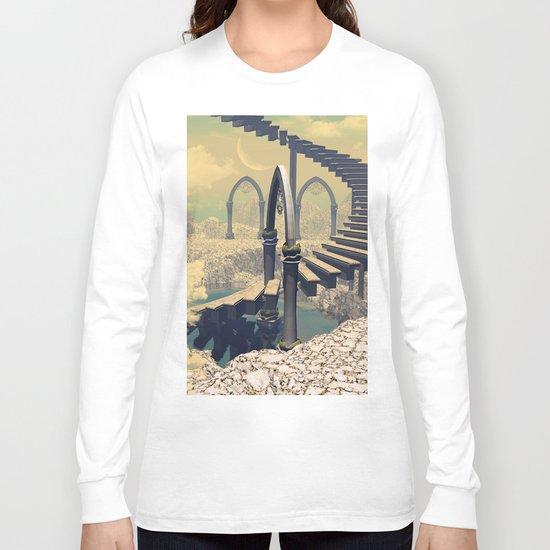 The treppe in the sky Long Sleeve T-shirt