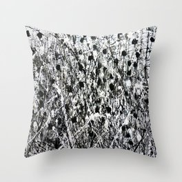 little black Throw Pillow