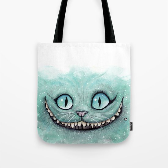 Cheshire Cat - Drawing - Dibujados Tote Bag