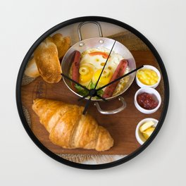 Beautiful Food by Khaled Mohamed Wall Clock