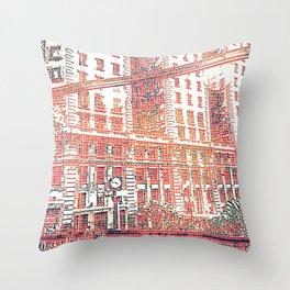 Sao Paulo - Art Throw Pillow