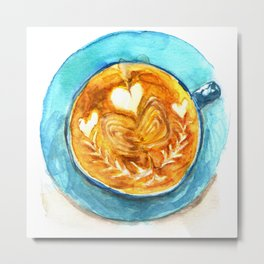 A Latte Hearts Metal Print