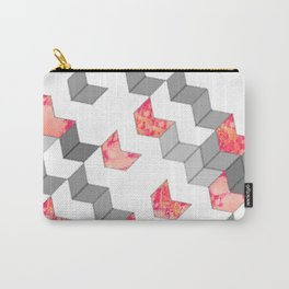 Elegant Minimalist Geometric Pattern Carry-All Pouch