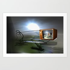 Cable TV Art Print