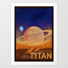 Wake Up On Titan Art Print