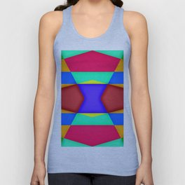 Shadows over colorfields ... Unisex Tank Top