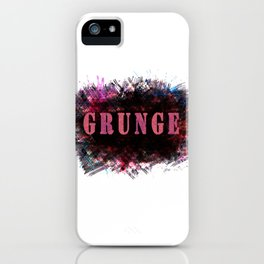 """The word """"GRUNGE"""" . iPhone Case"""
