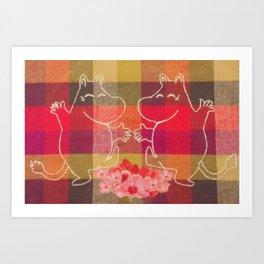 Moonin Dance Stitching #1 Art Print