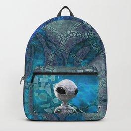 Game map for fantasy world Alien planet Pod's transmission game art Backpack
