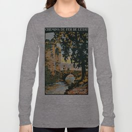 Bretagne et Normandie, French Travel Poster Long Sleeve T-shirt