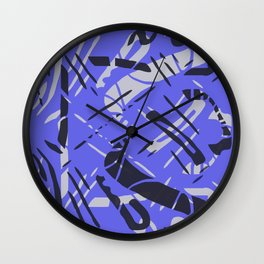 Scattered Blue Wall Clock