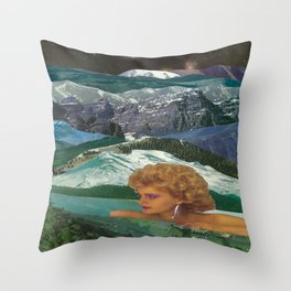 Lady Chills Throw Pillow