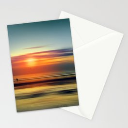 Bright Red - seascape sunset abstract Stationery Cards